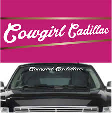 Cowgirl Cadillac Auto Decals And Stickers Topchoicedecals