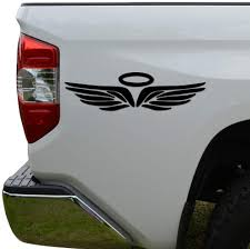 Amazon Com Rosie Decals Angel Wings Halo Christian Die Cut Vinyl Decal Sticker For Car Truck Motorcycle Window Bumper Wall Decor Size 12 Inch 30 Cm Wide Color Gloss Black Home Kitchen