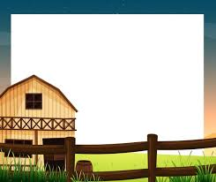 An Empty Template With A Barnhouse And A Fence Download Free Vectors Clipart Graphics Vector Art
