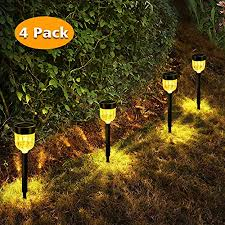 bebrant solar pathway lights warm white