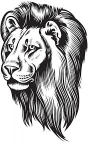 Lion Head With Mane Wall Decal Wallmonkeys Com