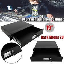 rack mount 2u audio dj drawer equipment