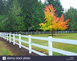 White Rail Fence High Resolution Stock Photography And Images Alamy