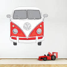 Classic Vw Bus Wall Decal Volkswagen Bus Wall Art