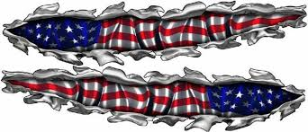 Speedpro Memphis East Portfolio American Flag Decal Vinyl Graphics Vinyl