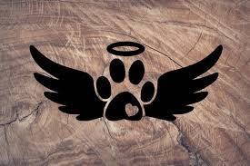 Angel Paw Print Decal Paw Print Yeti Decal Animal Lover Etsy