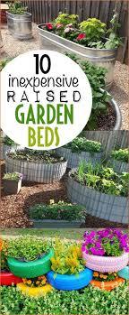 inexpensive diy raised flower beds