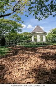 bandstand botanic gardens stock photo