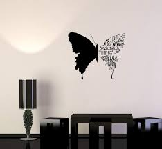 Wall Decal Butterfly Phrases Words Beautiful Quote Vinyl Sticker Unique Gift Ed814 Beautiful In 2020 Diy Wall Painting Simple Wall Paintings Creative Wall Painting