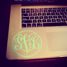 Pin By Sunshine Vinyl On Monogram Anything Monogram Stickers Laptop Monogram Monogram Frame