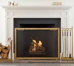industrial fireplace single screen