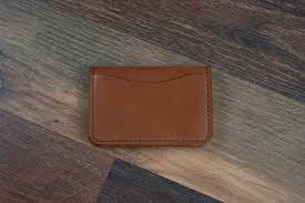 4 slot leather wallet toffee tan mens