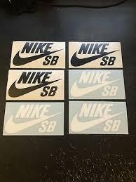Lot Of 4 Nike Sb Skateboard Logo Vinyl Stickers Pink Silver Luggage Bumper Gloss Outdoor Sports Skateboarding Longboarding Equipment Skateboarding Longboarding Stickers Decals