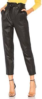 faux leather pants for women high