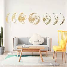 Creative Moon Phase 3d Wall Sticker Home Living Room Wall Decoration Mural Art Decals Background Decor Moon Stickers Decals For Home Walls Decals For The Home From Lotlot 2 41 Dhgate Com