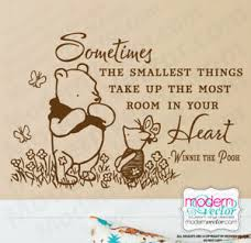 Winnie The Pooh Quote Vinyl Wall Decal Lettering Classic Pooh Style Your Heart Ebay