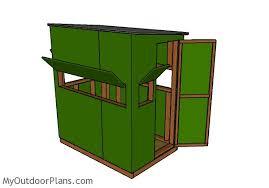 deer blind plans 4x6 myoutdoorplans