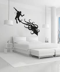 Vinyl Wall Decal Sticker Scuba Diver And Octopus Os Aa746 Stickerbrand