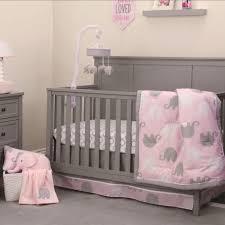 nojo pink elephant 4 pc crib bedding