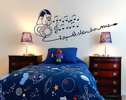 Earphone Music Nursery Vinyl Decal Children Sticker