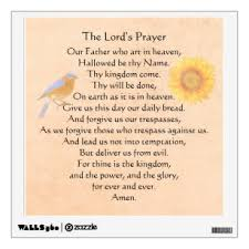 Lord Prayer Wall Decals Stickers Zazzle