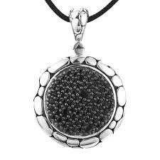 kali collection black sapphire pendant