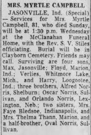 Obituary for CAMPBELL JASON MYRTLE (Aged 81) - Newspapers.com