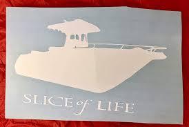 Amazon Com Boat Slice Of Life White Vinyl Car Decal New Gift Handmade