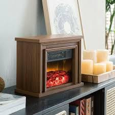 electric fireplace wood desktop heater