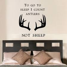 To Go To Sleep I Count Antlers Wall Decals By Artollo