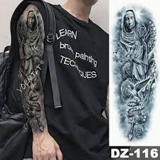Duzy Rekaw Rekaw Tatuaz Wojownik Slon Lew Wodoodporna Tymczasowa