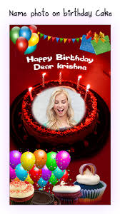 name photo on birthday cake for android