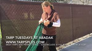 How To Set Up Mesh Tarps And Privacy Fencing By Tarps Plus Youtube