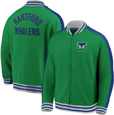 Fanatics Nhl Men S Hartford Whalers Varsity Green Full Zip Track Jacket Walmart Com Walmart Com