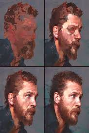 """Aaron Griffin on Instagram: """"Process stages to my Tom Hardy study :) - Aaron  Griffin on Instagram"""