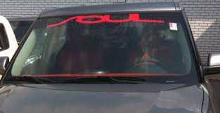 Windshield Banner Decal Graphic Sticker Fits Any Yr Kia Soul 4 Soul 20 00 House Of Grafx Your One Stop Vinyl Graphics Shop