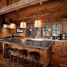 glamorous log cabin kitchens