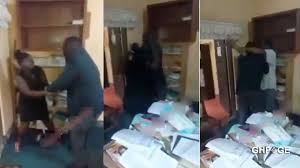 Video of a female lawyer being beaten in her office surfaces online - GhPage