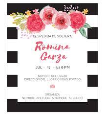 Invitacion Despedida Soltera Rayas Diseno Digital Personalizable