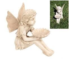 dish antique cream garden statue
