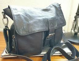 dark blue leather satchel bag