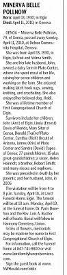 Obituary (Minerva Smith) - Newspapers.com