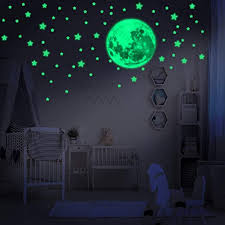 Amazon Com Lumosx 234 Pcs Assorted Glow In The Dark Stars For Ceiling For Kids Room Decor With Realistic Full Moon Crescent Moon Easy To Apply Adhesive Glowing Stars Decals For