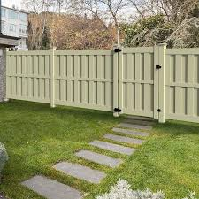Freedom Birchwood 6 Ft H X 8 Ft W Sand Vinyl Flat Top Fence Panel In The Vinyl Fence Panels Department At Lowes Com