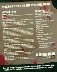 the walking dead make up tips amc