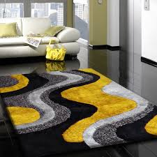 nevin hand tufted gray yellow area rug