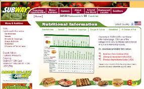 subway calories guide eat fresh but