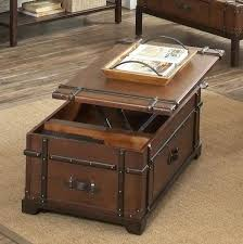 chest coffee table lift top cherry