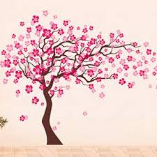 Amazon Com Pop Decors Removable Vinyl Art Wall Decals Mural Cherry Blossom Tree Dark Brown Hot Pink Baby