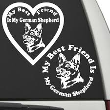 German Shepherd My Best Friend Is My Dog Decal Sunburst Reflections